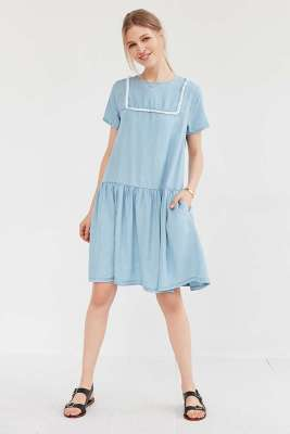 Little White Lies Suki Chambray Shift Dress - Urban Outfitters $109