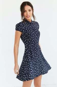 Kimchi Blue Rosebud Fit + Flare Shirt Dress - Urban Outfitters $69