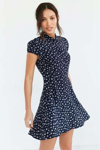 Kimchi Blue Rosebud Fit + Flare Shirt Dress - Urban Outfitters $69