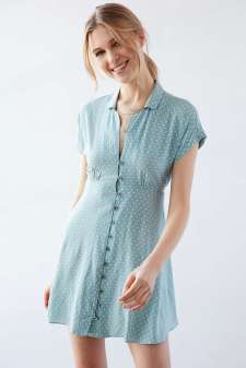 Kimchi Blue Lucy Printed Shirt Dress - Urban Outfitters $69