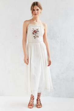 Kimchi Blue Needlepoint Apron Midi Dress - Urban Outfitters $119