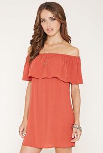 Off-the-Shoulder Crepe Dress - Forever 21 $20