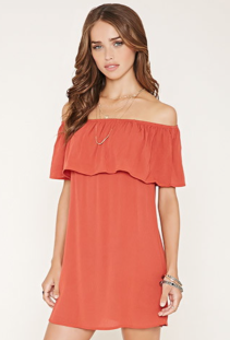 Off-the-Shoulder Crepe Dress - Forever 21 $20